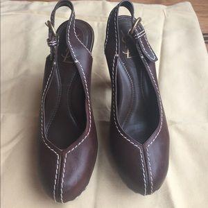 Yves Saint Laurent Shoes - YSL Leather Platform Sandal