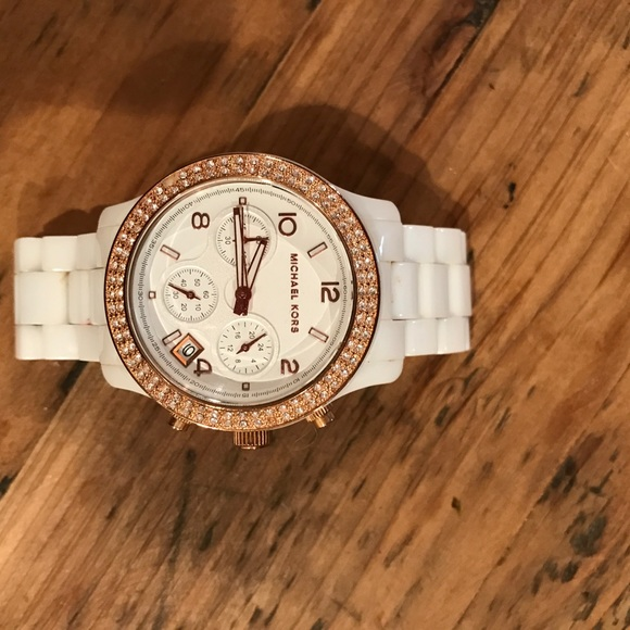 53 off michael kors accessories michael kors white and
