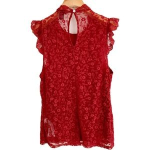 Tops - Forever 21 Sheer Lace Top