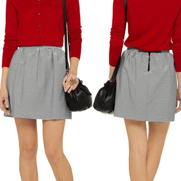 a7602ab1a69d14 Alice + Olivia Dresses & Skirts - Alice +Olivia striped black white  seersucker skirt