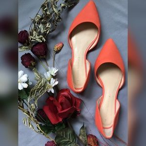 Banana Republic Shoes - Banana Republic Alani Coral D'orsay Leather Flats