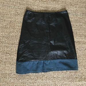 Urban Renewal Dresses & Skirts - NWT Urban Renewal Leather & Denim Skirt