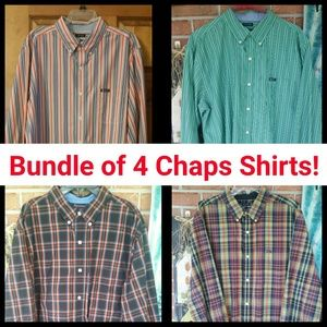 Chaps Other - 4 CHAPS LONG SLEEVE SHIRTS! XL