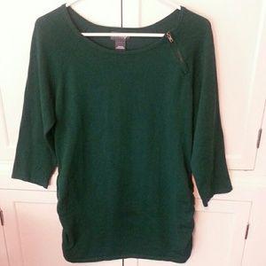 LOVE ALWAYS Sweaters - LOVE ALWAYS green tunic sweater