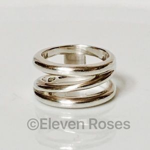 Tiffany & Co. Jewelry - Tiffany & Co. Sterling Triple Wave Wide Band Ring