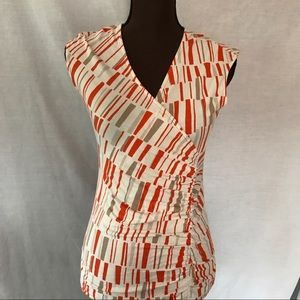 Orange and Tan Ann Taylor Top