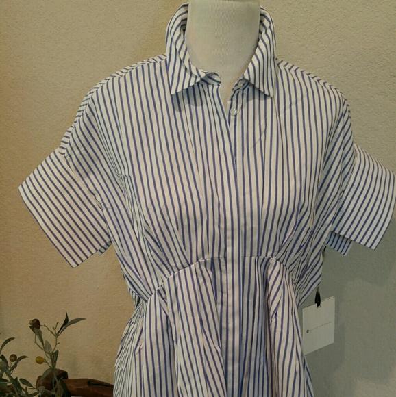 Victoria Beckham Dresses - VBxT Striped Poplin Dress - Sold out online!