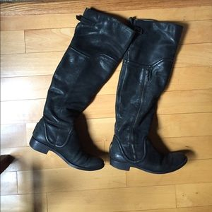 Miss Sixty Shoes - Miss Sixty black Leighton over the knee boots 37