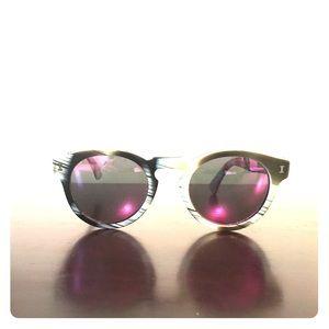 Illesteva Accessories - Illestiva round sunglasses colored mirror lenses