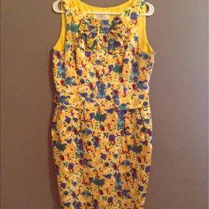 Carolina Herrera Dresses & Skirts - Carolina Herrera yellow floral cocktail dress