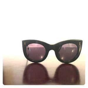 Illesteva Accessories - Illestiva black and gold cat eye sunglasses