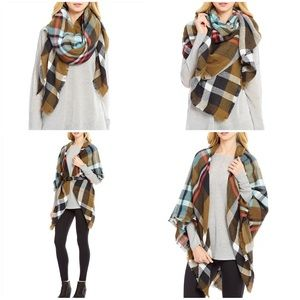 Collection XIIX Sweaters - Square Blanket Wrap Crisp Forest by collection 18