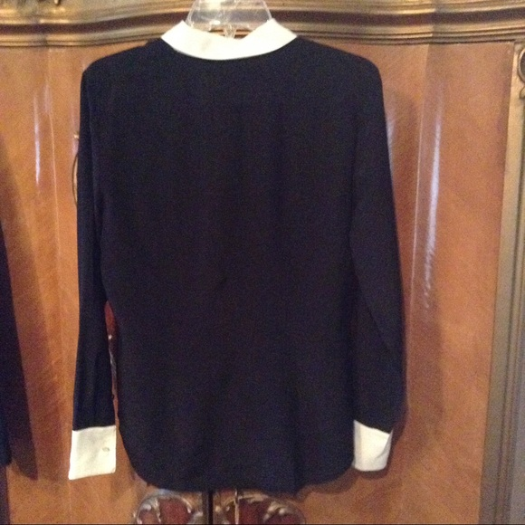 Ralph Lauren Black Silk Blouse 87