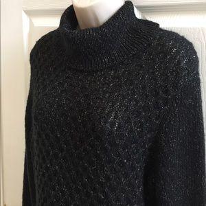 Apt. 9 Sweaters - NEW SWEATER DRESS BLACK GOLD WOMENS LARGE NWT