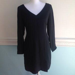 HUGO Dresses & Skirts - Hugo Buscati 100% Silk Black Long Sleeve Dress
