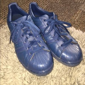 Adidas Shoes - Navy blue superstar Adidas size 8