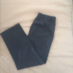 Kim Rogers Pants - Dark gray dress pants/blue lines