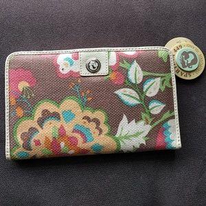 Spartina 449 Handbags - Spartina 449 leather linen wallet NWT