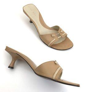 Nine West Kitten Heels Leather Sandal Shoes
