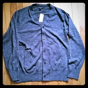 Banana Republic Button Down Gray Sweater