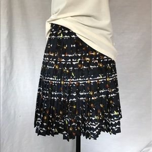 J. Crew Dresses & Skirts - NWT J. Crew Fit n Flare Navy Pleated Skirt