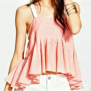 Free People Tops - NEW Free People Striped Peplum Tank/Cami