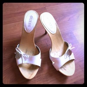 Guess Shoes - White Guess Heels Size 7.5