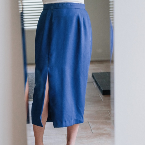 Vintage Skirts - VINTAGE Blue Skirt
