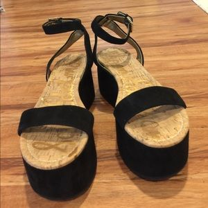 Sam Edelman Shoes - Sam Edelman Henley Suede Platform sandals