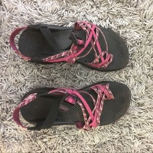 Chacos Shoes - CHACO women's size 8 triple strap with toe