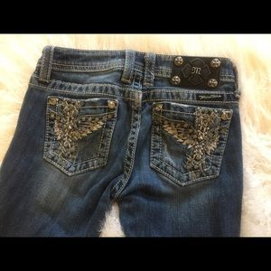 Miss Me Denim - Miss Me Girls Jeans Size 14 Cross with Wings