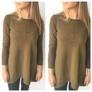Eileen Fisher Green Long Sleeve Swing Sweater