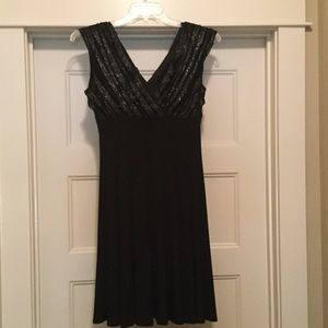 NWT Women's black dress by Connected apparel.