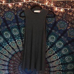 Gypsy Warrior Dresses & Skirts - 1 HOUR SALE Gyspsy Warrior Gray Ribbed Dress