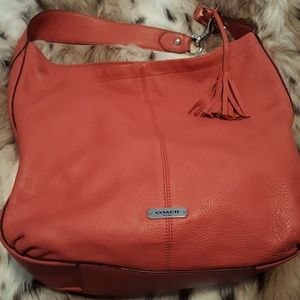 Coach Should Bag with Tassel