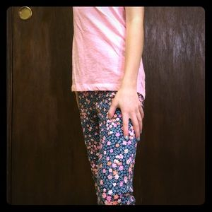 Cherokee Other - Floral blue jeans!