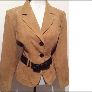 Studio Jackets & Blazers - Brown Belted Jacket Size 18