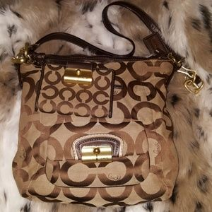 Coach Signature Crossbody with Matching Wallet