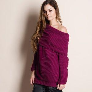 Off Shoulder Oversized Sweater