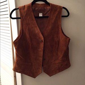 Pendleton Vintage Suede Vest
