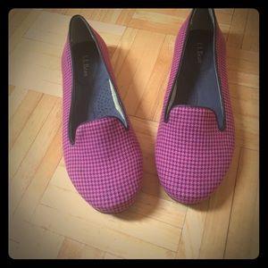Pink L. L. Bean flats