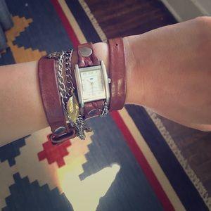 La Mer brown wrap watch