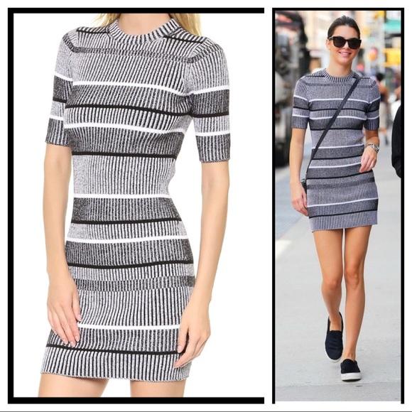 7ed481c957 ... Rib Knit Stripe Sweater Dress. M 58fe7146713fde96fe01b3c8