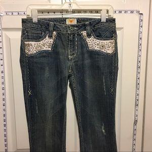 Antik Batik Denim - Antik White & Rhinestone Jeans