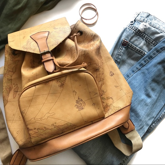 Handbags make an offer world map leather backpack tan poshmark make an offer world map leather backpack tan gumiabroncs Gallery