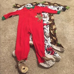 Carter's Other - Lot of three 3T footie pajamas