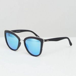 Quay Australia My Girl Mirror Cat Eye Sunglasses