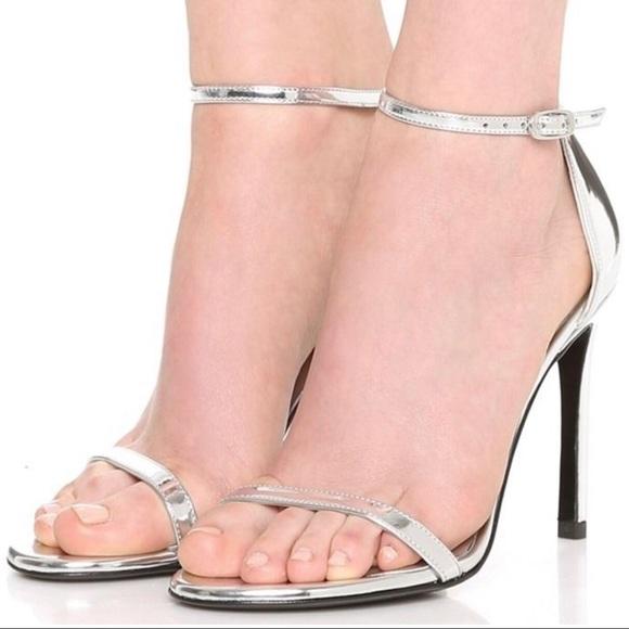 9e21e14ef03f Stuart Weitzman Nudistsong Silver Nudist Sandals