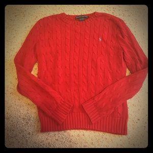 Red Ralph Lauren 100% cottonsweater