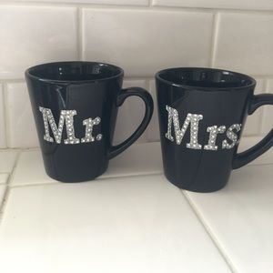 Other - Me. & Mrs. Black coffee cups
